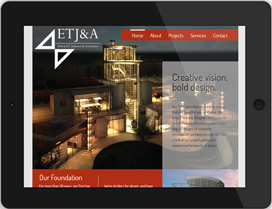 Edward T. Johnson & Associates Case Study Display