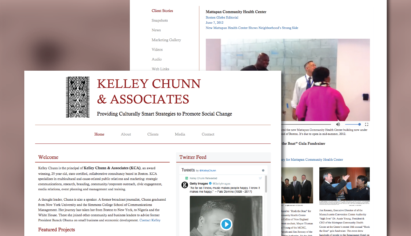 Kelley Chunn & Associates Case Study Display